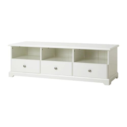 Liatorp mueble tv blanco ikea for Mueble para tv blanco