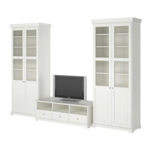 Liatorp mueble tv con almacenaje ikea for Muebles blancos ikea