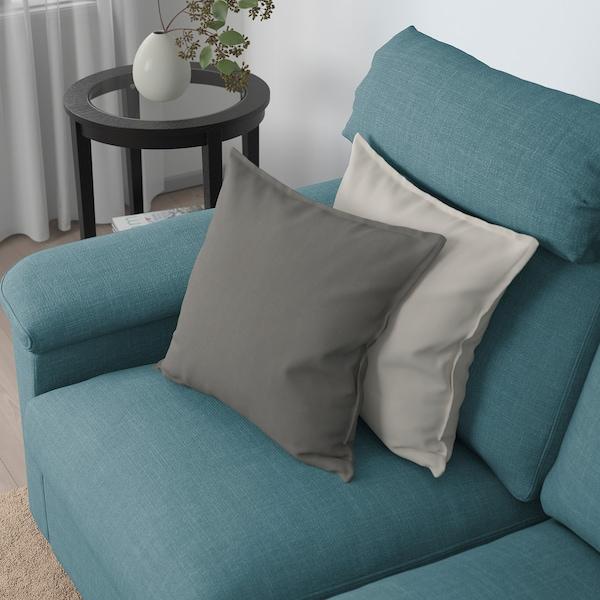 LIDHULT 2 módulos sofá cama, Gassebol azul/gris