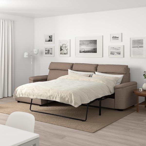 LIDHULT Sofá cama 3 plazas - +chaiselongue, Lejde beige ...