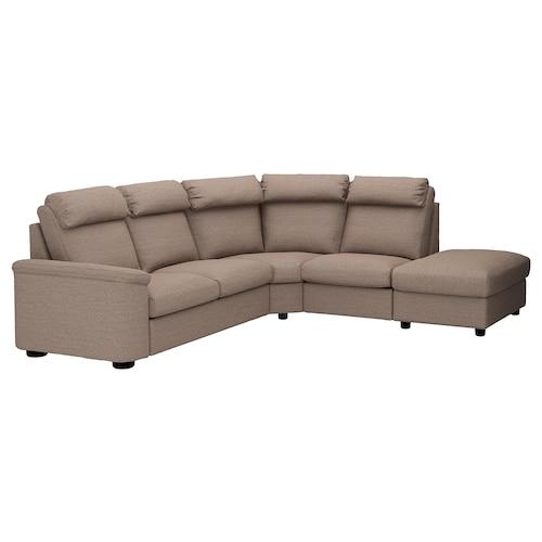 LIDHULT sofá 5 plazas esquina +extremo abierto/Lejde beige/marrón 102 cm 76 cm 98 cm 275 cm 253 cm 7 cm 53 cm 45 cm