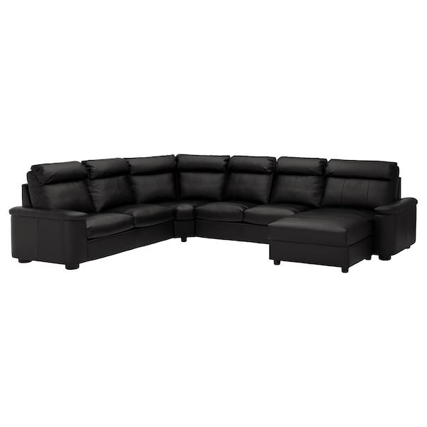 LIDHULT sofá de esquina 6 +chaiselongue/Grann/Bomstad negro 102 cm 76 cm 164 cm 98 cm 120 cm 367 cm 275 cm 7 cm 53 cm 45 cm