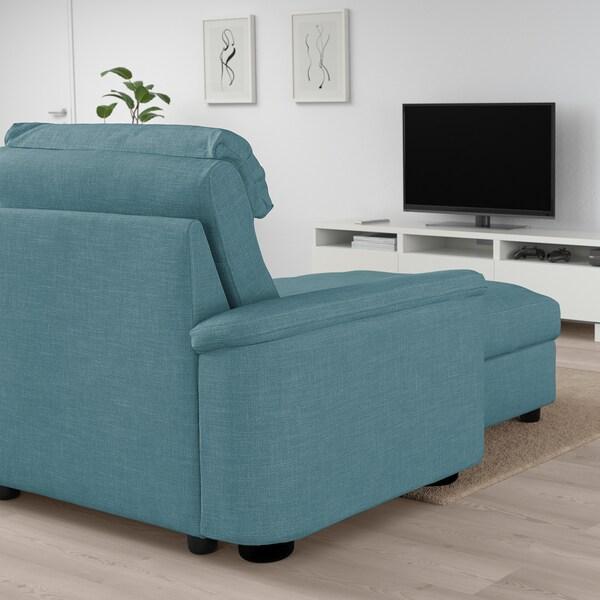 LIDHULT Sofá cama 3 plazas, +chaiselongue/Gassebol azul/gris