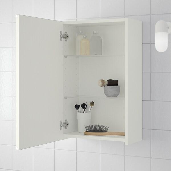 LILLÅNGEN armario con espejo, 1 puerta blanco 40 cm 21 cm 64 cm