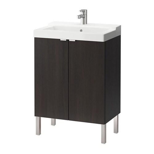Adesivo Moveis Mdf ~ LILLåNGEN TäLLEVIKEN Armario lavabo&2 pta negro marrón IKEA