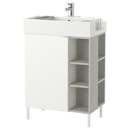 LILLÅNGEN armario lavabo1puerta/2mód term blanco/gris Ensen grifo 61 cm 41 cm 87 cm
