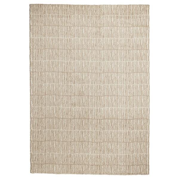LINDELSE Alfombra, pelo largo, natural/beige, 170x240 cm