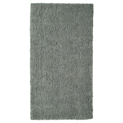 LINDKNUD Alfombra, pelo largo, gris oscuro, 80x150 cm