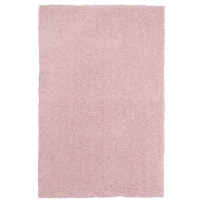 LINDKNUD Alfombra, pelo largo, rosa, 60x90 cm