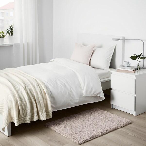 LINDKNUD Alfombra, pelo largo - beige - IKEA