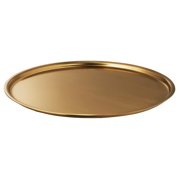 LINDRANDE Soporte vela, dorado, 22 cm