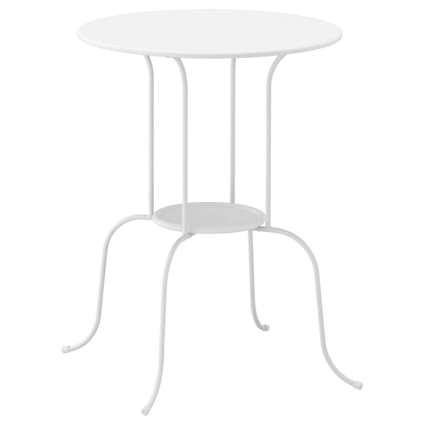 Mesa auxiliar, blanco, 50x68 cm