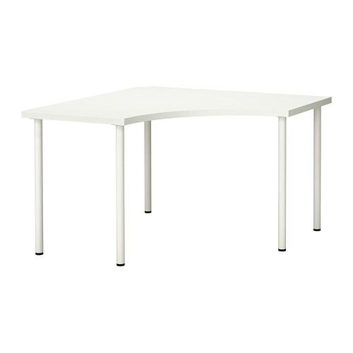 Linnmon adils mesa de esquina blanco ikea for Mesas para esquinas