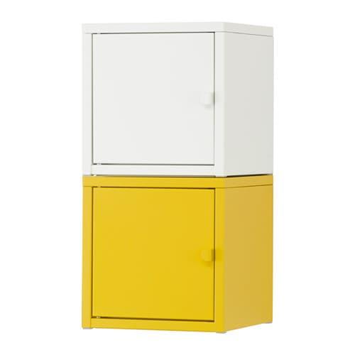 Lixhult combinaci n almacenaje blanco amarillo ikea for Almacenaje bano ikea