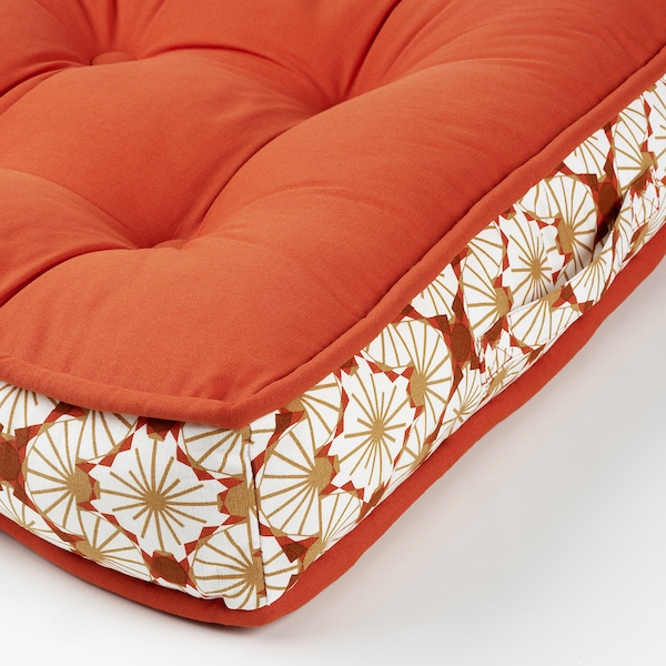 LJUVARE Cojín suelo, naranja, 48x48 cm