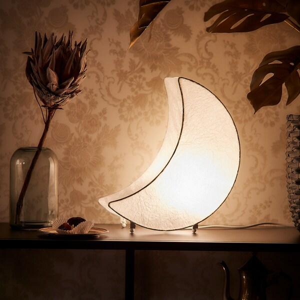LJUVARE Iluminación decorativa LED, forma de luna blanco