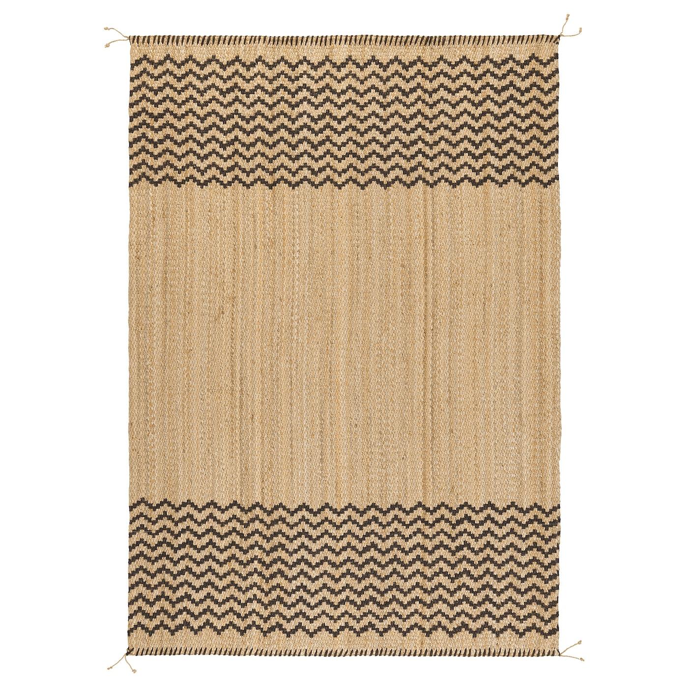 LÖNHOLT Alfombra - natural, marrón oscuro verde - IKEA