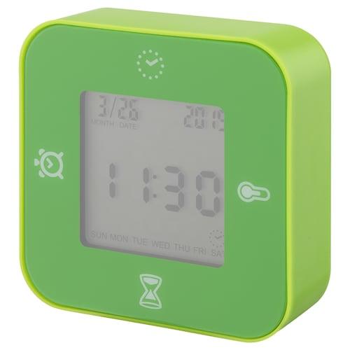 LÖTTORP reloj/termómetro/despertador/tempor verde 7 cm 3 cm 7 cm