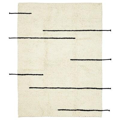 LOKALT Alfombra, natural negro/a mano, 133x195 cm