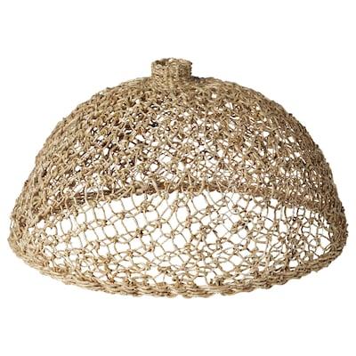 LOKALT Pantalla para lámpara, fibras de platanera/a mano, 44 cm