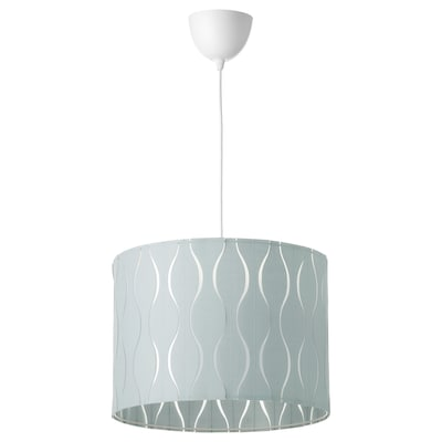 LÖKNÄS / HEMMA Lámpara de techo, azul/gris plata, 42 cm