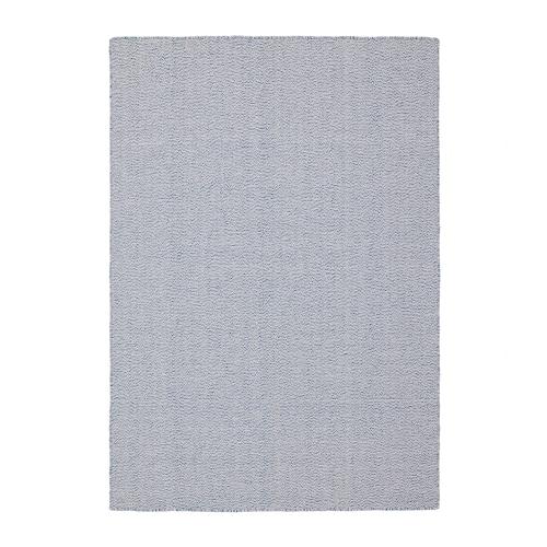 LOVRUP alfombra a mano azul 195 cm 133 cm 10 mm 2.59 m² 2740 g/m²