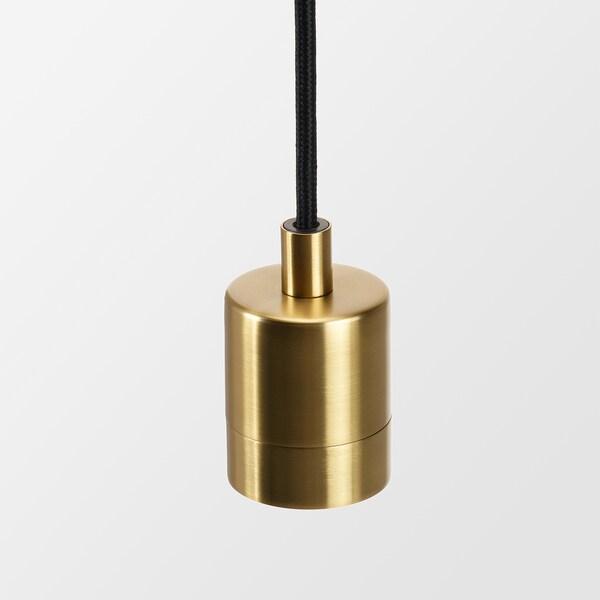 LUFTMASSA / SKAFTET Lámpara techo + bombilla, color bronce