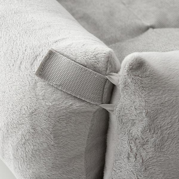 LURVIG Cama para perro, gris claro, M