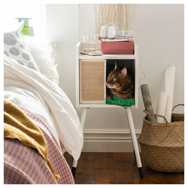 LURVIG Casa para gatos+patas, blanco