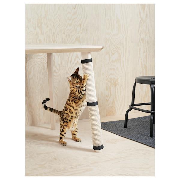 LURVIG Rascador gato / arañador, natural, 25x63 cm