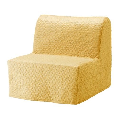 Lycksele l v s sill n cama vallarum amarillo ikea for Sillon cama plegable goma espuma