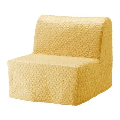 Lycksele l v s sill n cama vallarum amarillo ikea for Sillon cama individual ikea