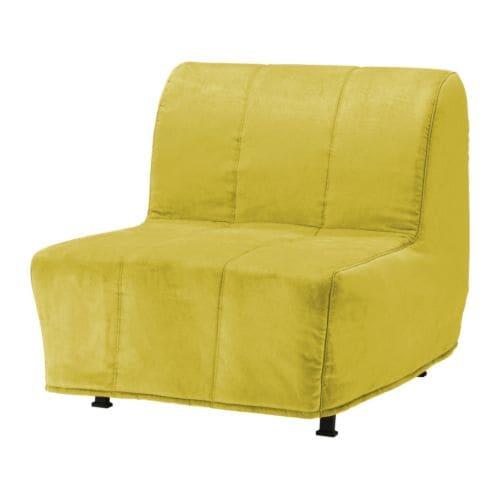 Lycksele l v s sill n cama hen n amarillo ikea for Sillon cama blanco