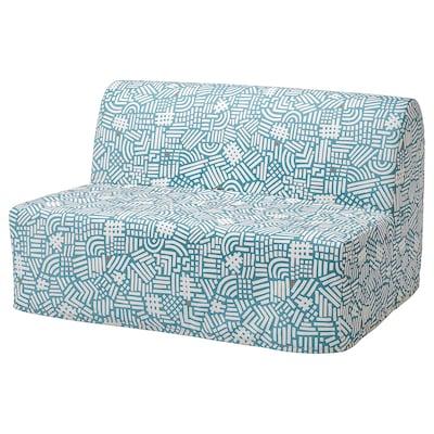 LYCKSELE LÖVÅS Sofá cama de 2 plazas, Tutstad multicolor