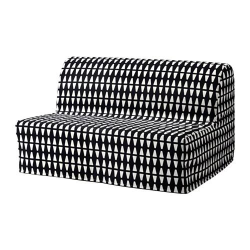 Lycksele l v s sof cama 2 plazas ebbarp negro blanco ikea for Sofa cama 2 plazas precios
