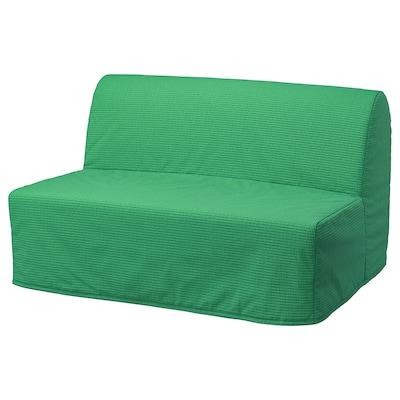 LYCKSELE MURBO Sofá cama de 2 plazas, Vansbro verde vivo