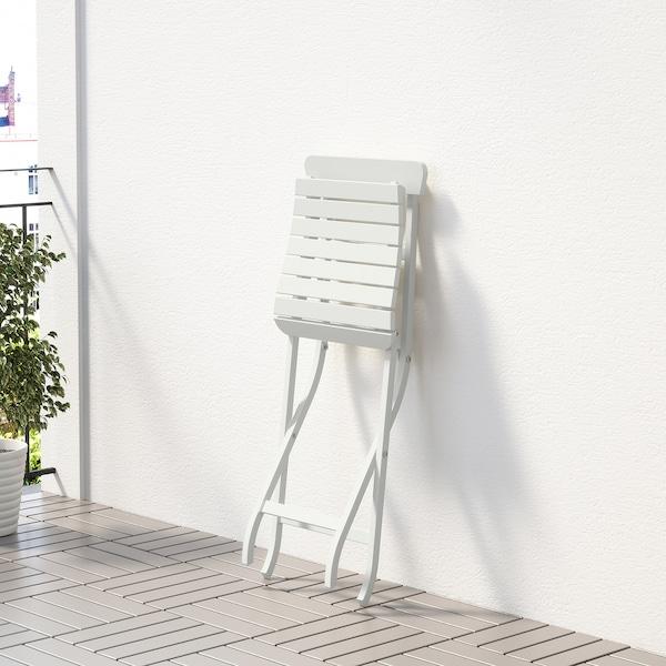 MÄLARÖ Silla jardín, blanco plegable blanco IKEA