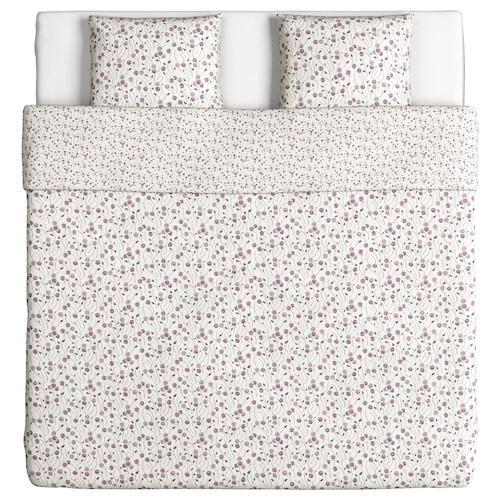 MAJVIVA funda nórdica y 2 fundas almohada blanco/lila 2 unidades 220 cm 240 cm 50 cm 60 cm