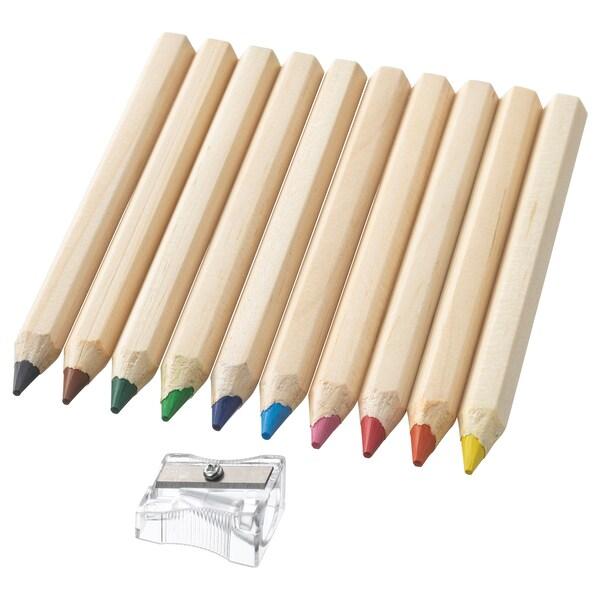 MÅLA lápiz de color 12 cm 1 cm 10 unidades
