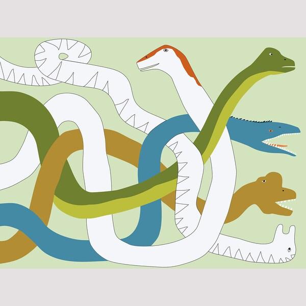 MÅLA Libro actividades, dinosaurio