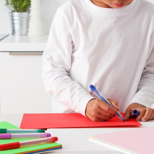 MÅLA Papel, colores variados/medidas variadas