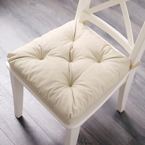 MALINDA Cojín para silla, beige claro, 40/35x38x7 cm