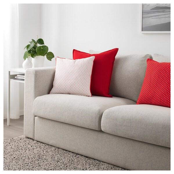 MALINMARIA Cojín, rojo, blanco lunares, 40x40 cm IKEA