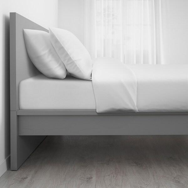 MALM Estructura de cama, tinte gris/Leirsund, 140x200 cm