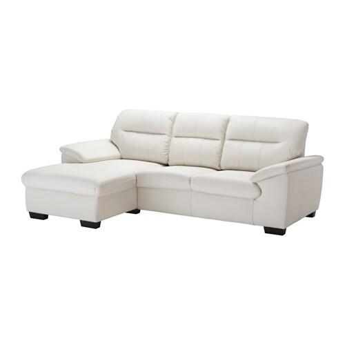 MALVIKEN Sofá 2 plazas con chaiselongue Kimstad hueso IKEA