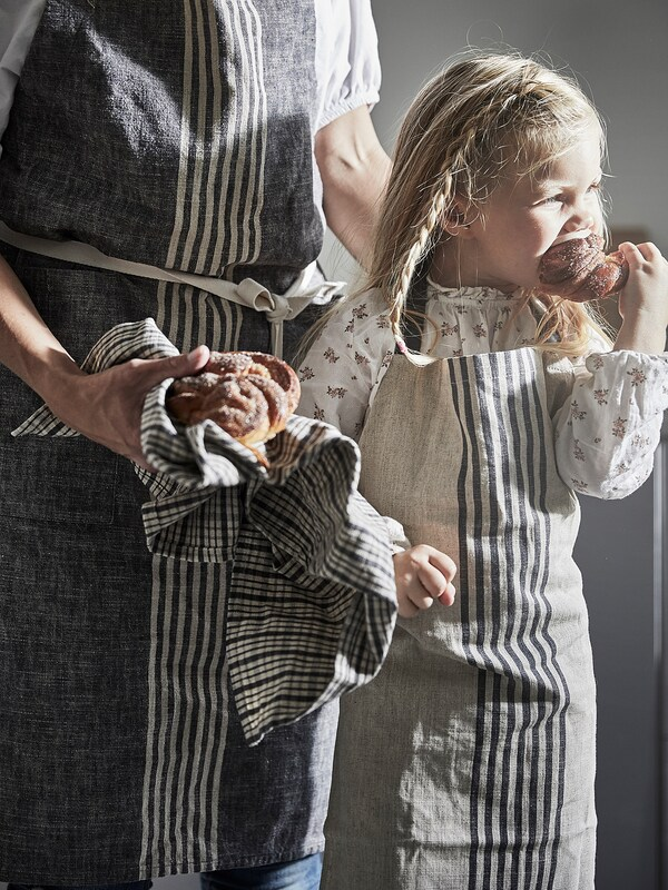 MARIATHERES Delantal para niño, beige