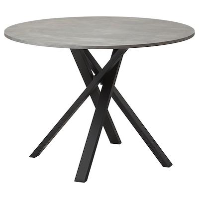 MARIEDAMM Mesa, gris oscuro, 105 cm