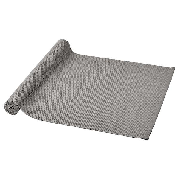 MÄRIT Camino de mesa, gris, 35x130 cm
