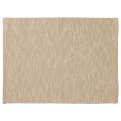MÄRIT Mantel individual, beige, 35x45 cm