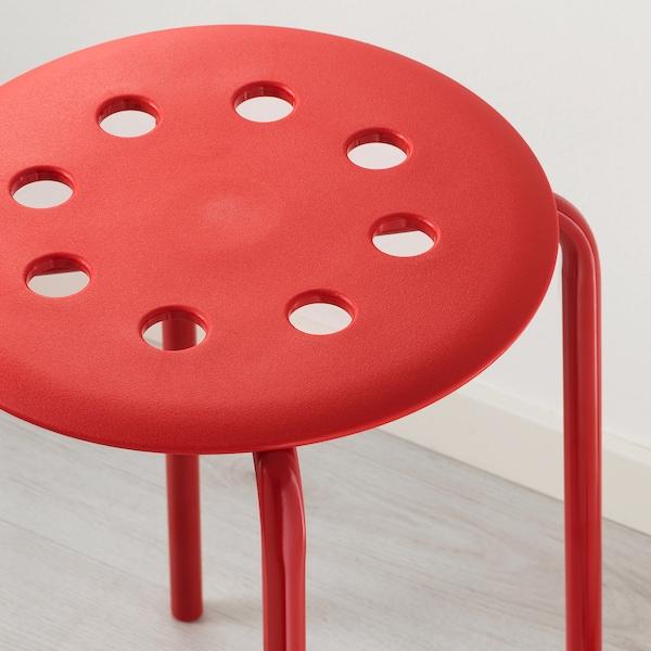 MARIUS Taburete, rojo, 45 cm